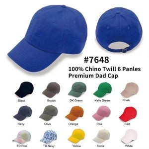 6 Panel Unstructured Washed Polo Dad Cap